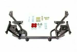 BMR Suspension KM018H Tubular K-Member Standard Motor Mounts Standard Rack Mounts - Black Hammertone (2005-2014 Mustang)