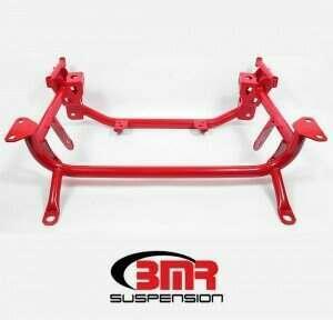BMR KM761R Drag Racing K-member - Red (2015-2020 Mustang GT / Shelby GT500 / V6)