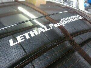 "Lethal Performance 12"" Decal"