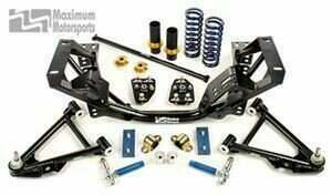 Maximum Motorsports 1996-04 Mustang Auto-X/Road Race K Member Package with Offset Geometry Arms and Delrin Bushings (for Bilstein Struts) - MMKMP-31