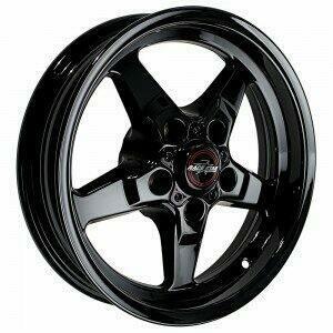 "Race Star Drag Wheel 18"" x 5"" - Dark Star Finish (2011-2014 Mustang GT / 2012-2013 Boss 302 / 2013 & 2014 GT500 & 2015+ GT w/ Standard or Upgraded Brake Pkg)"