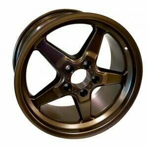 "Race Star 92-705154BZ Drag Wheel 17"" x 10.5"" - Bronze Finish (2005-2014 Mustangs Including GT500's & 2015+ GT w/Performance & Standard Brake Package)"
