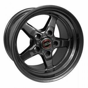 "Race Star 92-795153G Drag Wheel 17"" x 9.5"" - Bracket Racer Metallic Gray Finish (2005-2014 Mustangs Including GT500's; 2015+ GT w/Standard Brake Package)"