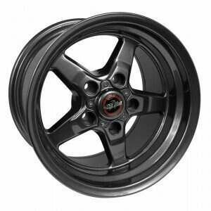 "Race Star Bracket Racer Wheel 17"" x 10.5"" - Metallic Gray (2005-2014 Mustangs Including GT500's & 2015+ GT w/Performance & Standard Brake Package)"