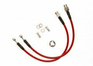 Stifflers FORD-MUSTANGFRTS-16 94-04 Mustang Front Stainless Steel Brake Hose Kit (2 pc)