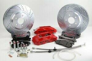 """Baer 1979-2004 Mustang 13"""" Front Track4 Brake System (Red Calipers)"""