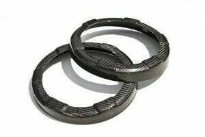 TruCarbon 2005-2009 Mustang Carbon Fiber LG106 Speaker Rings