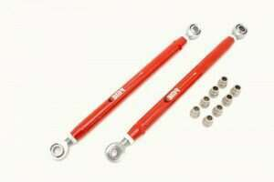 BMR 05-2014 Mustang Double Adjustable Lower Control Arms w/ Rod Ends (Red)