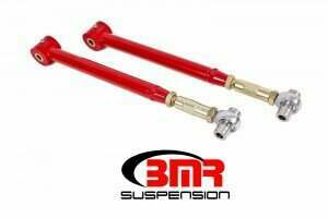BMR 05-2014 Mustang On-Car Adjustable Lower Control Arms with Poly/Rod End Bushing Combo (Red)