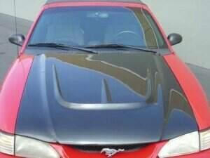TruFiber 1994-1998 Mustang Fiberglass A28 Hood