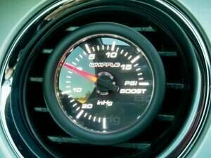 "Whipple 2-1/16"" Mechanical Boost Gauge (-20 InHg / +20 psi)"