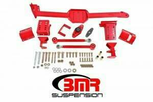 BMR Suspension WL005R 2005-2014 Mustang Watts Link with Poly/Rod Ends (Red)