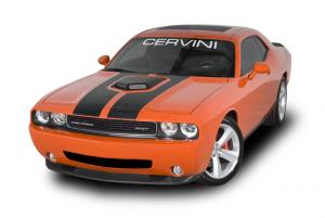 Cervinis 8040 08-17 Challenger R/T & SRT8 Shaker Hood Kit - Matte Black Scoop